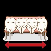 歯並びを正しい位置に